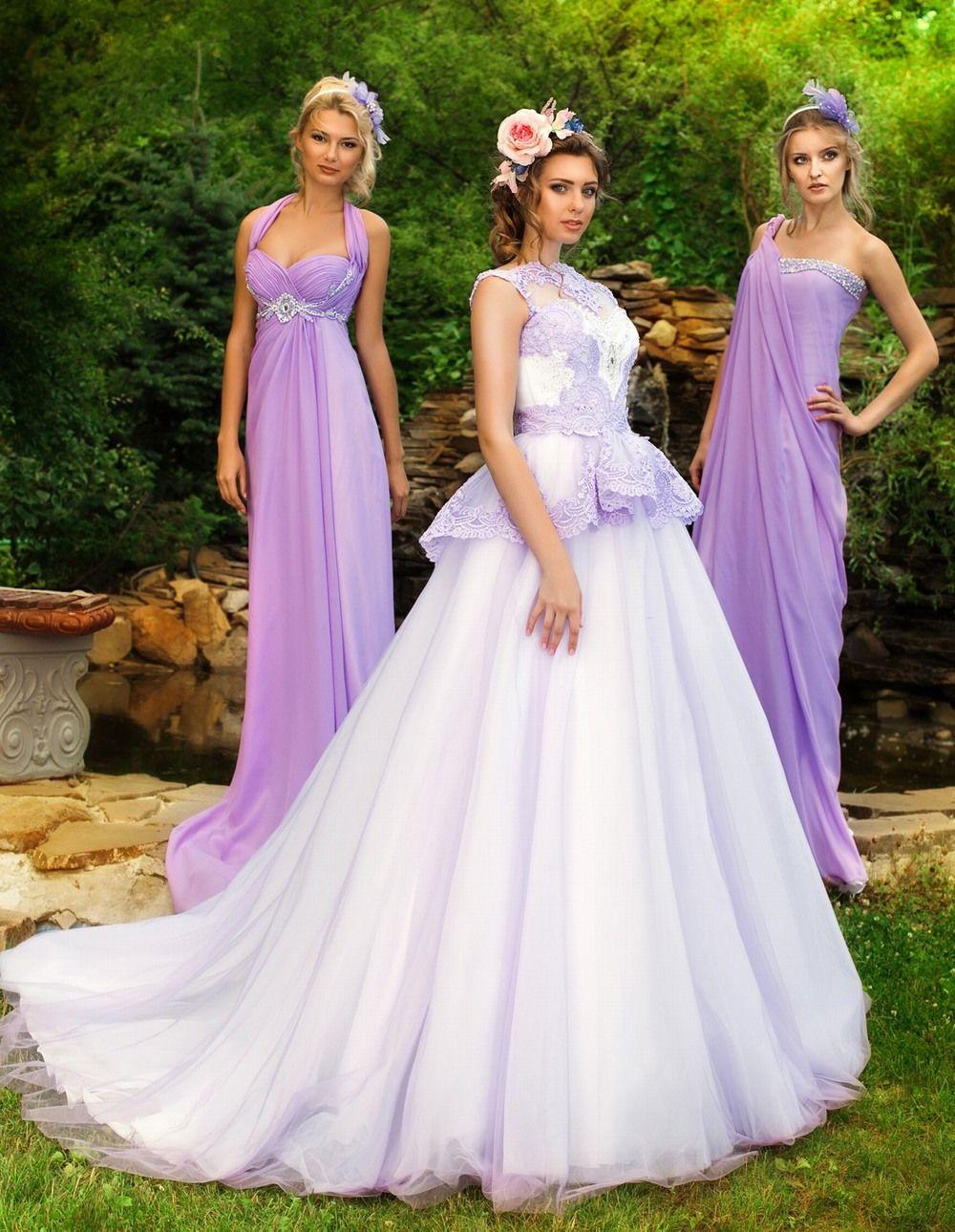 Платье подружек невесты лаванда