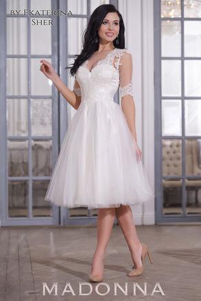 Короткое свадебные платья цветные